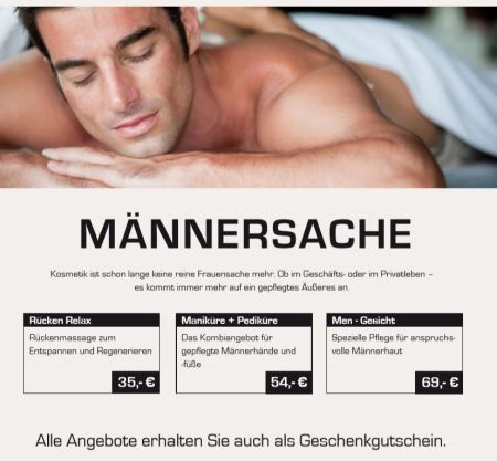 Kosmetik Munder Münster - Männersache